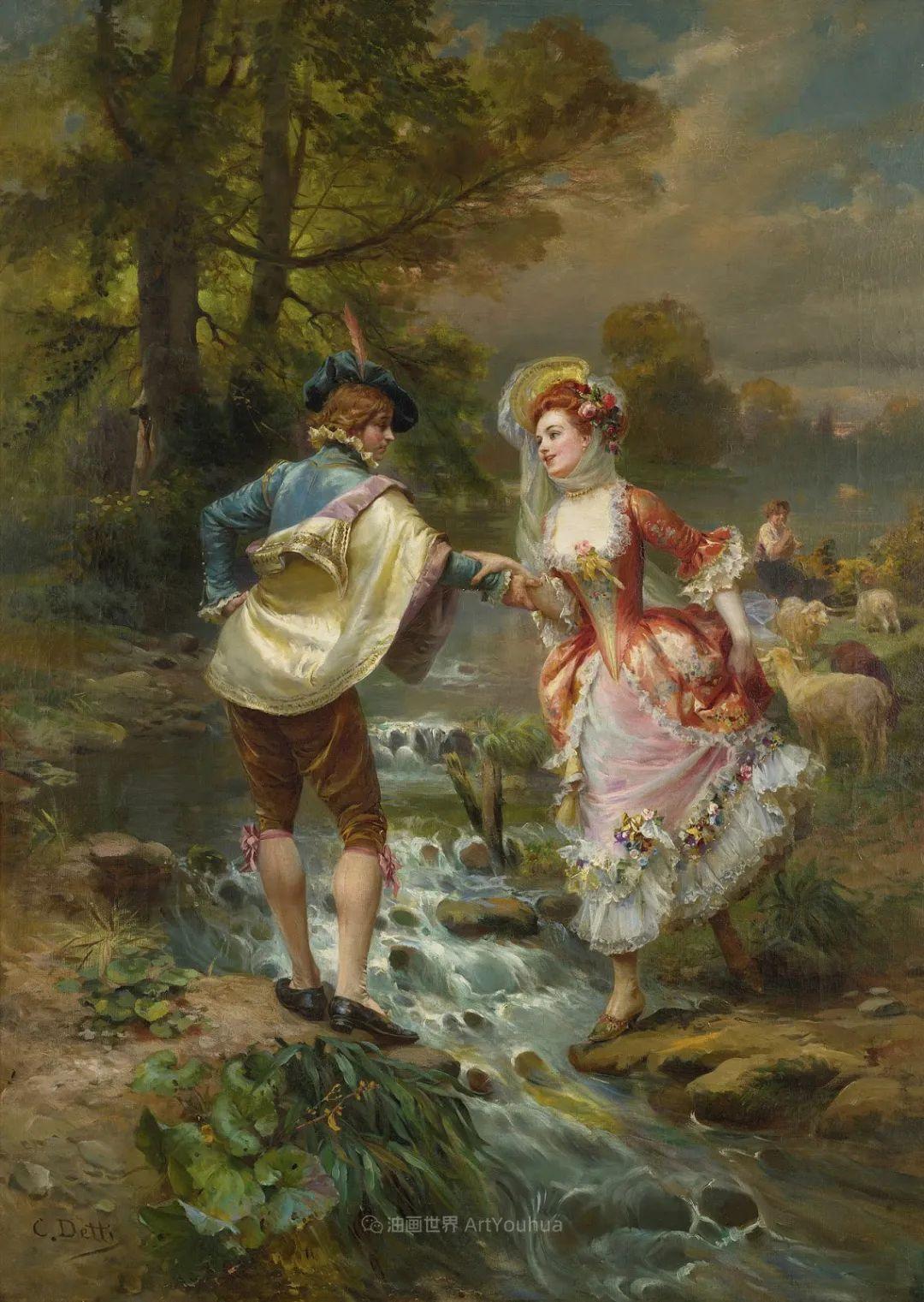 华丽的服饰,精美的人物,田园牧歌式的情感插图11