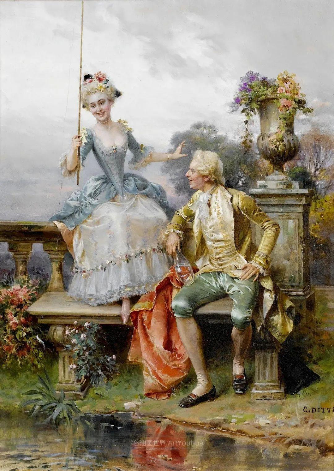 华丽的服饰,精美的人物,田园牧歌式的情感插图47