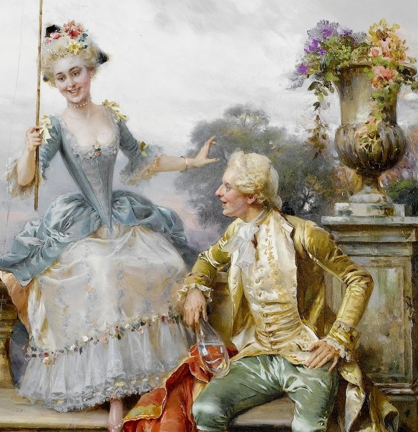 华丽的服饰,精美的人物,田园牧歌式的情感插图49