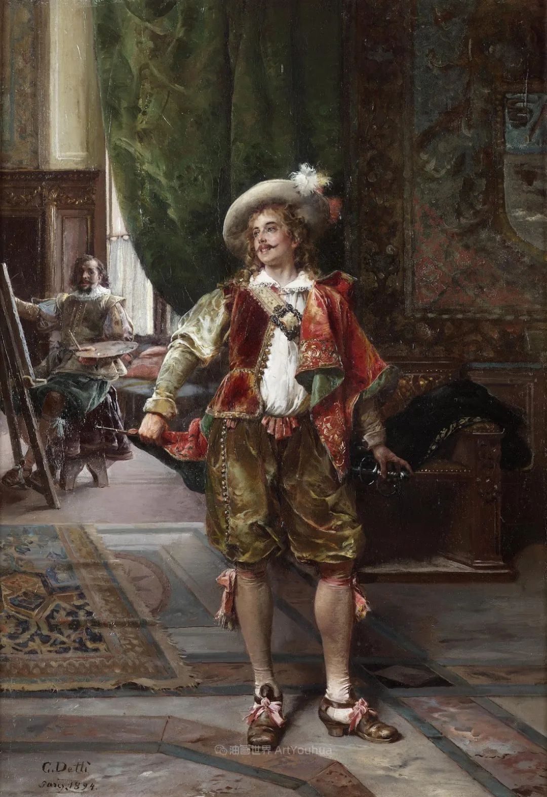 华丽的服饰,精美的人物,田园牧歌式的情感插图143