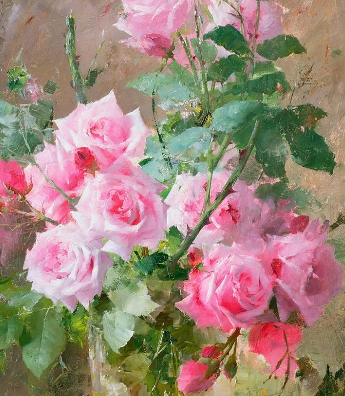 他笔下的粉色月季玫瑰,尤其受人关注!插图1