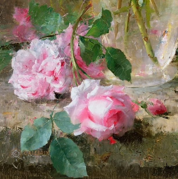 他笔下的粉色月季玫瑰,尤其受人关注!插图3