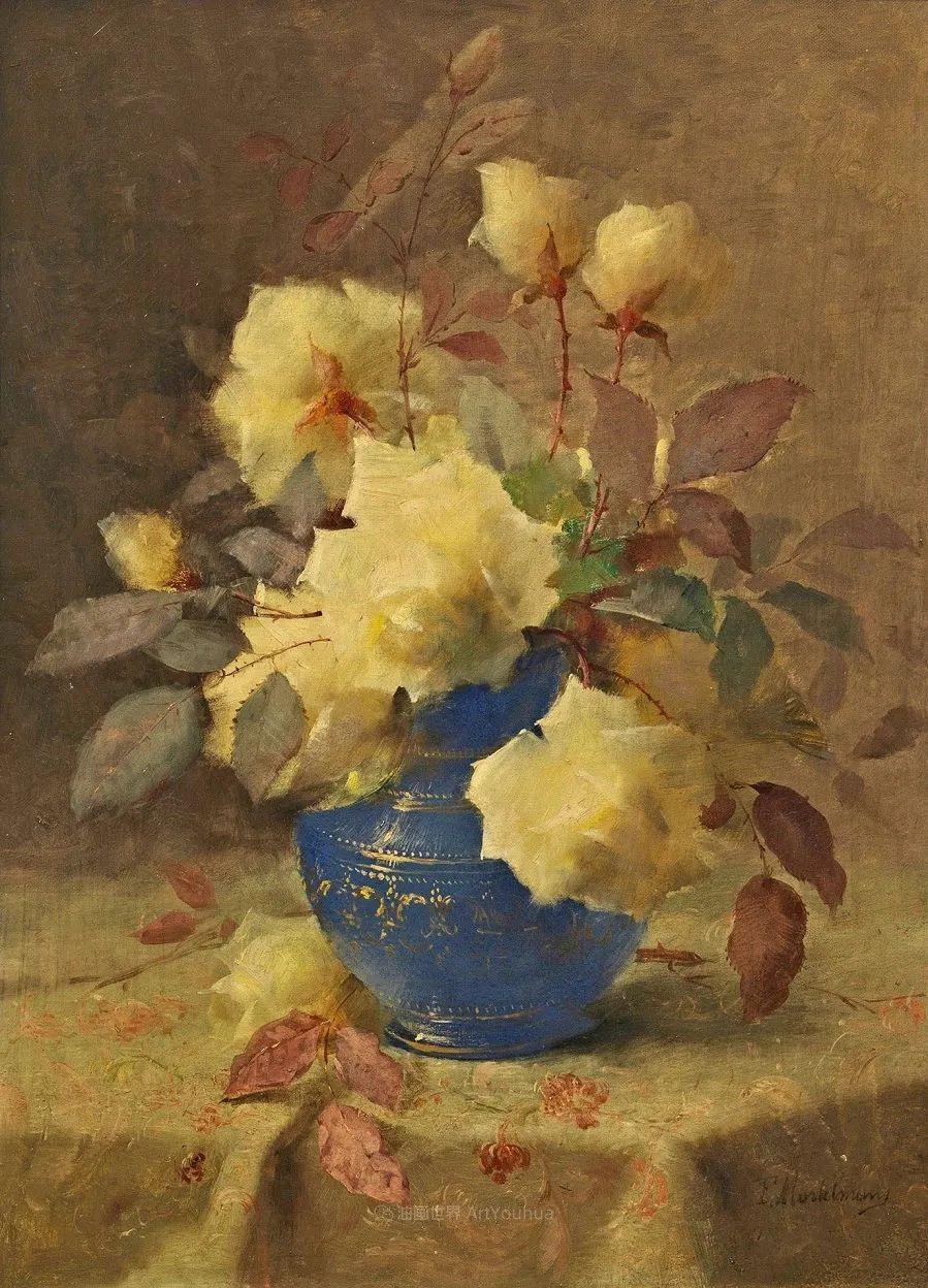 他笔下的粉色月季玫瑰,尤其受人关注!插图13