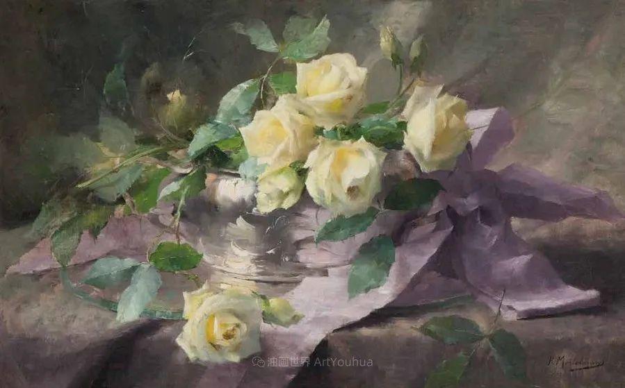 他笔下的粉色月季玫瑰,尤其受人关注!插图25