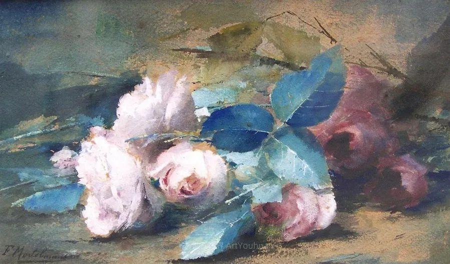 他笔下的粉色月季玫瑰,尤其受人关注!插图29