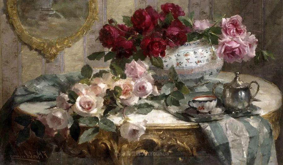他笔下的粉色月季玫瑰,尤其受人关注!插图125