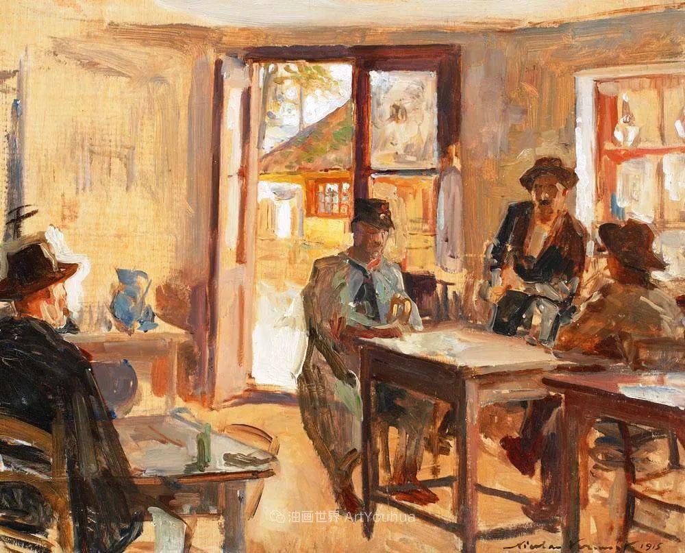 大笔触人物与风景,罗马尼亚画家尼古拉·佛蒙特插图33