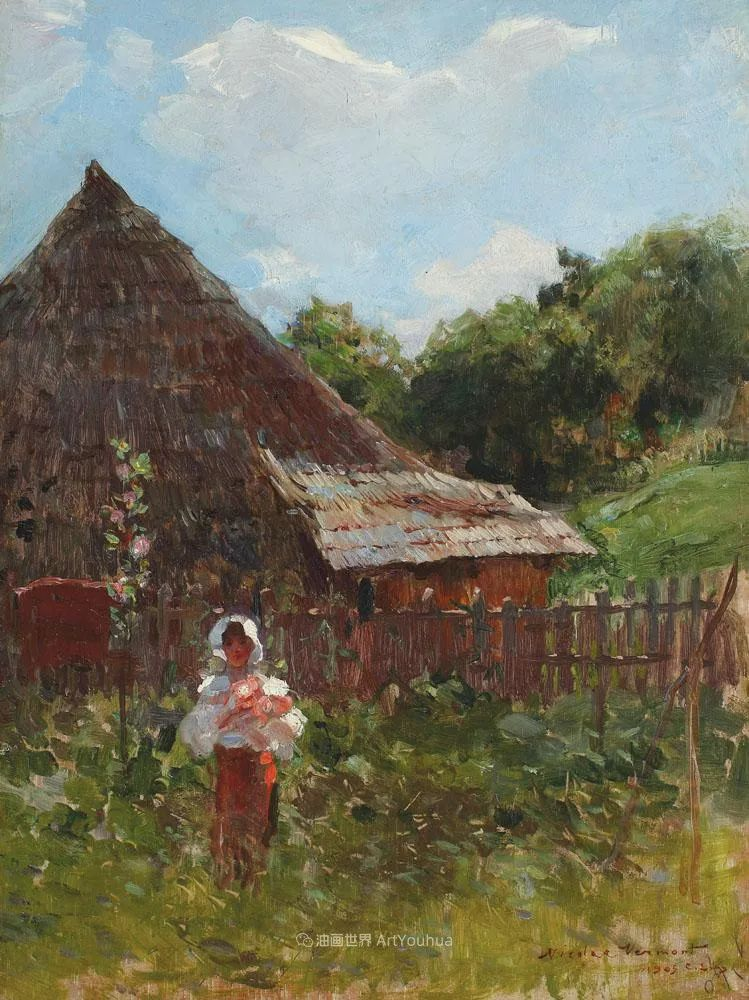 大笔触人物与风景,罗马尼亚画家尼古拉·佛蒙特插图69