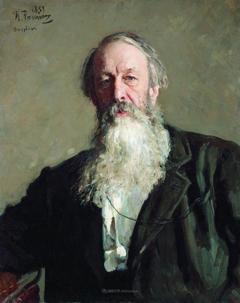 现实主义巨匠列宾, 男性肖像作品精选 170幅插图7
