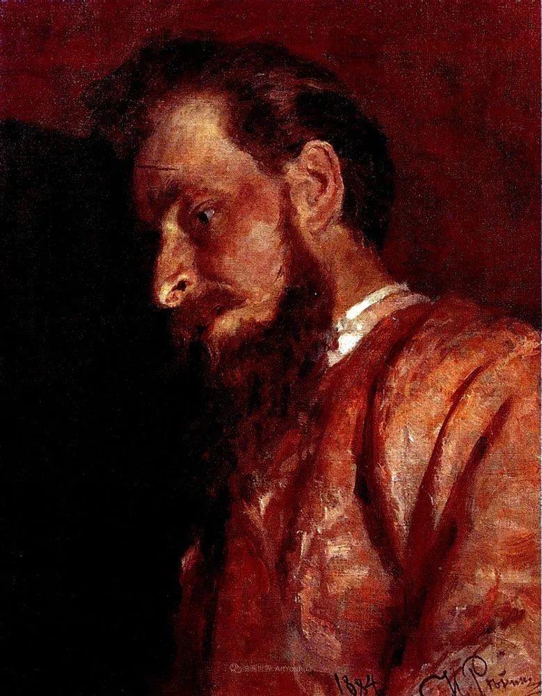 现实主义巨匠列宾, 男性肖像作品精选 170幅插图37