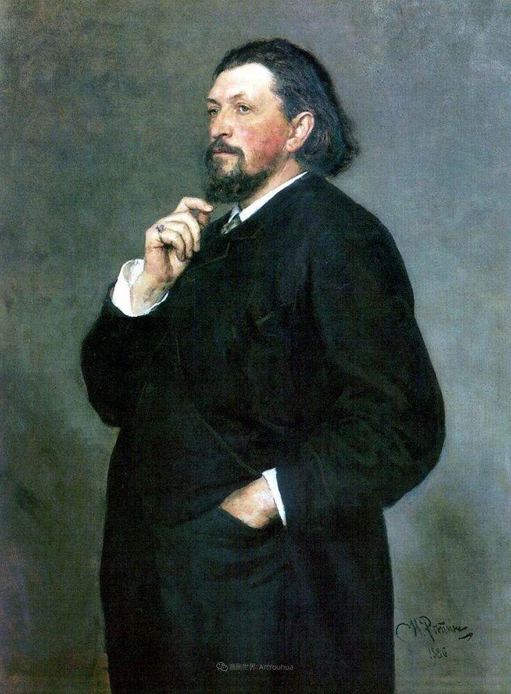 现实主义巨匠列宾, 男性肖像作品精选 170幅插图61