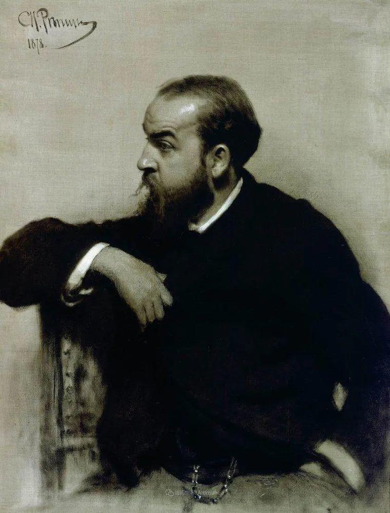 现实主义巨匠列宾, 男性肖像作品精选 170幅插图166