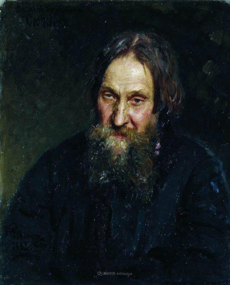 现实主义巨匠列宾, 男性肖像作品精选 170幅插图314