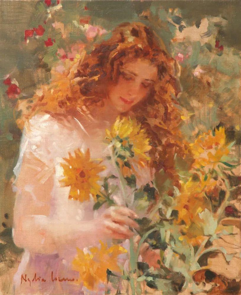 她笔下美丽的女人,像花一样尽情的绽放!插图1