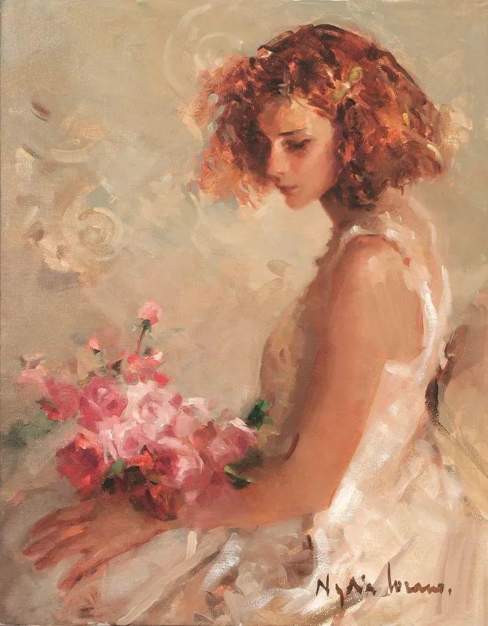 她笔下美丽的女人,像花一样尽情的绽放!插图9