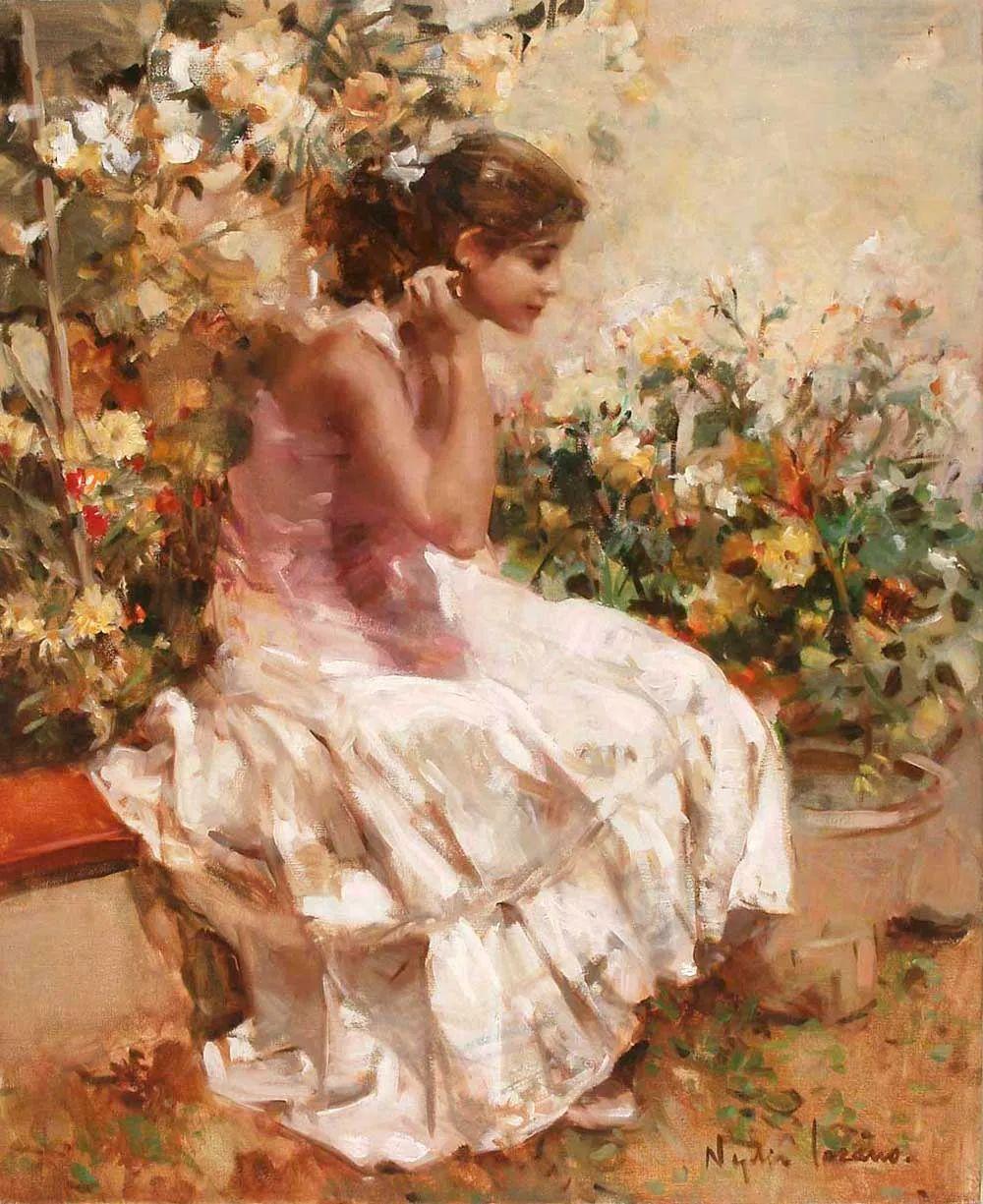 她笔下美丽的女人,像花一样尽情的绽放!插图19