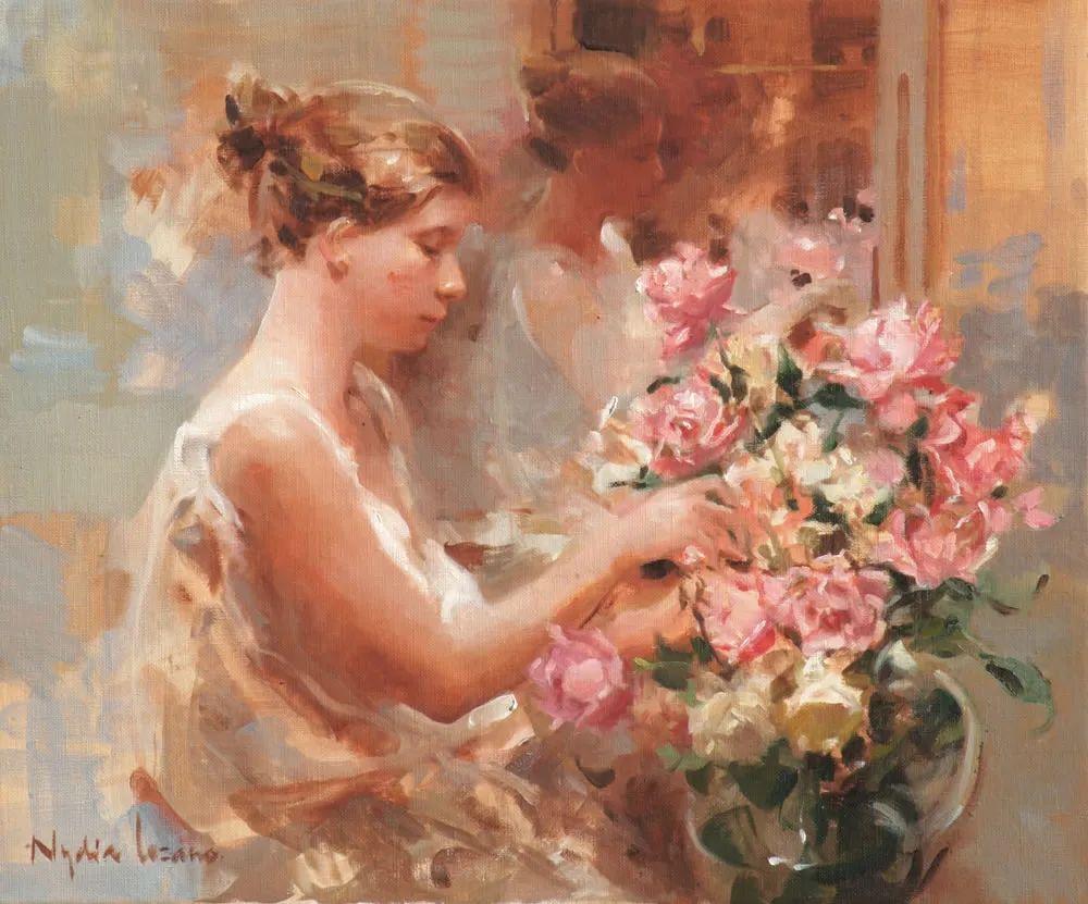 她笔下美丽的女人,像花一样尽情的绽放!插图21