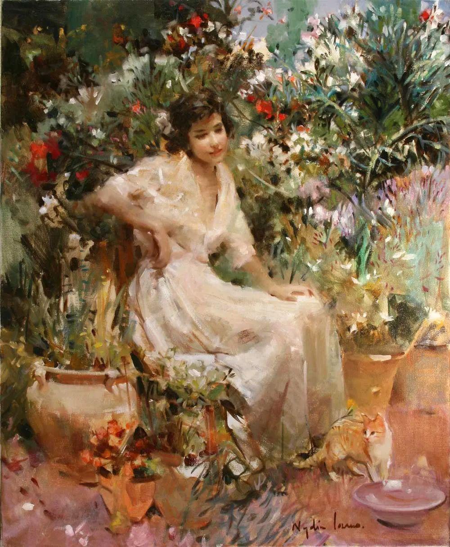 她笔下美丽的女人,像花一样尽情的绽放!插图23