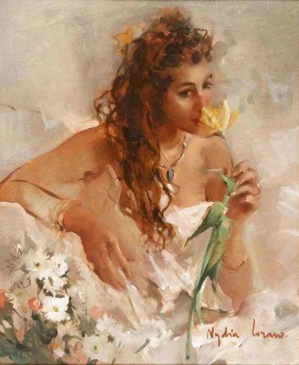 她笔下美丽的女人,像花一样尽情的绽放!插图69