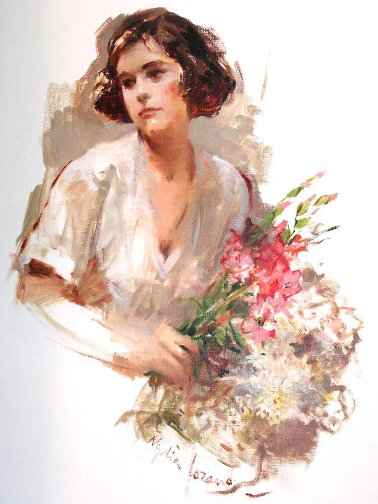 她笔下美丽的女人,像花一样尽情的绽放!插图79