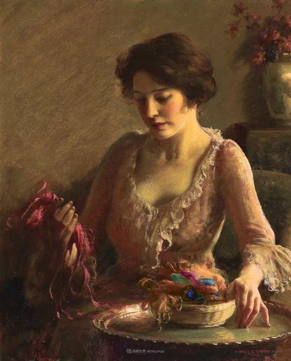 他画笔下的女人, 犹如春天的茉莉花, 清香、娇艳而不失典雅!插图29