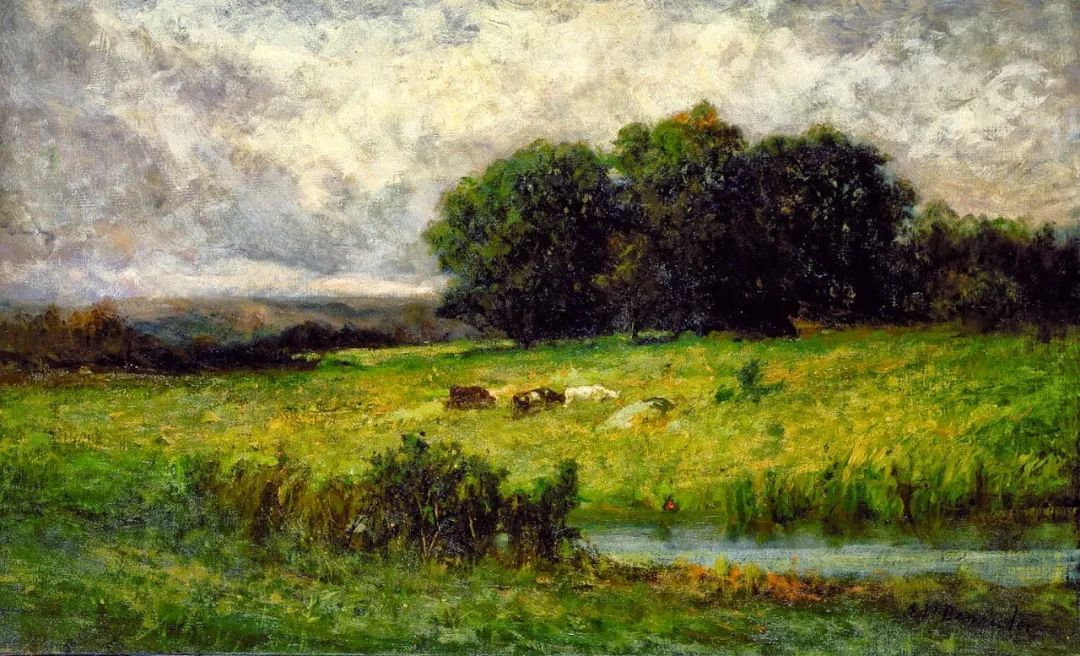 古典主义风格,宁静的田园风景画插图3