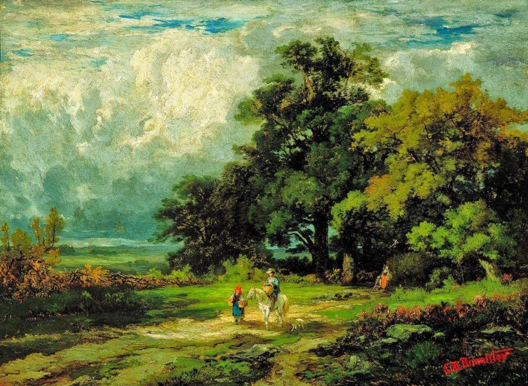 古典主义风格,宁静的田园风景画插图7
