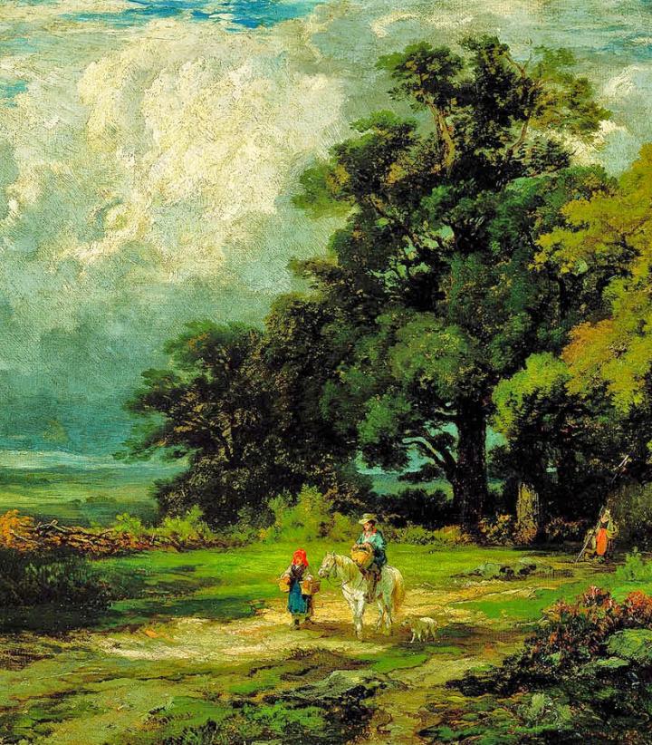 古典主义风格,宁静的田园风景画插图9