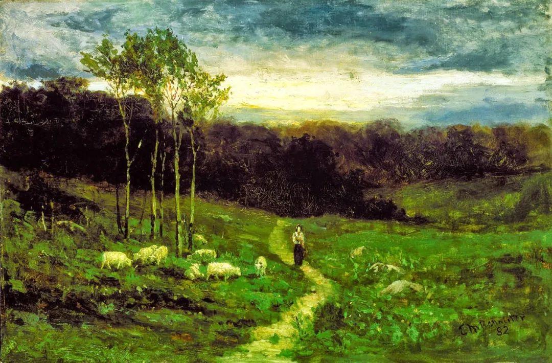 古典主义风格,宁静的田园风景画插图11