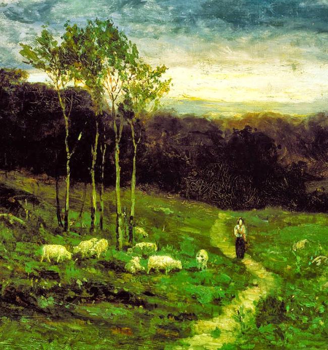 古典主义风格,宁静的田园风景画插图13