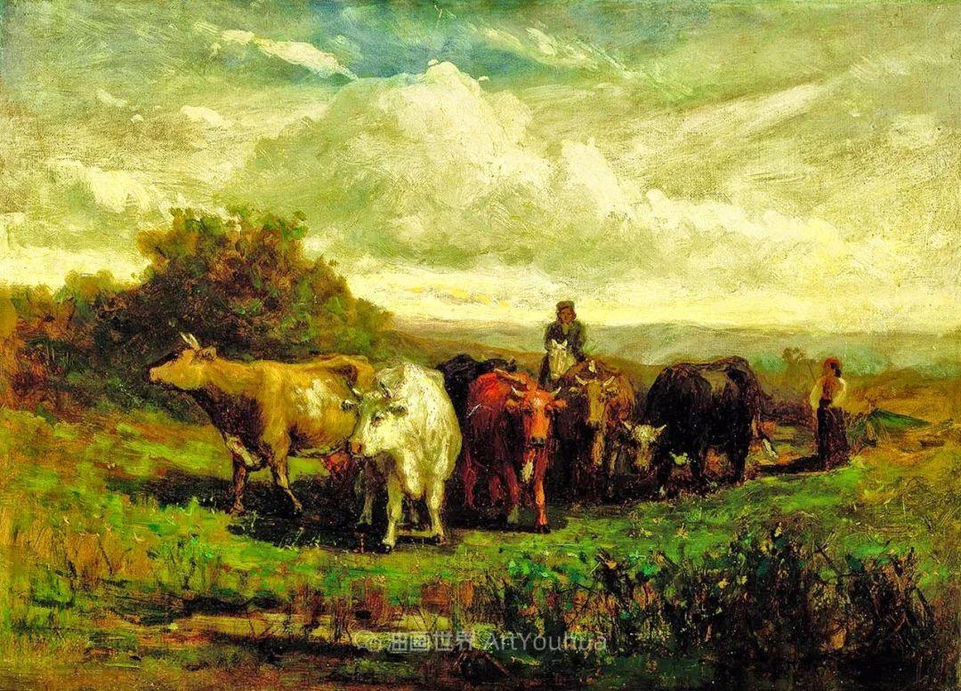 古典主义风格,宁静的田园风景画插图15