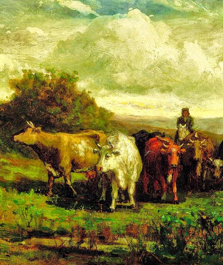 古典主义风格,宁静的田园风景画插图17