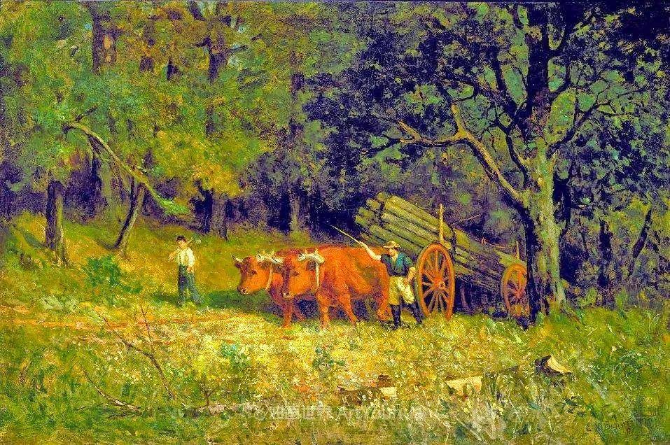 古典主义风格,宁静的田园风景画插图19