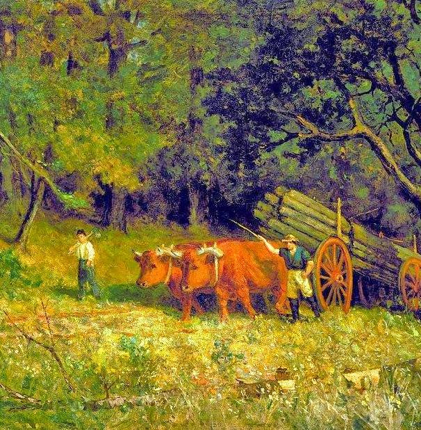 古典主义风格,宁静的田园风景画插图21