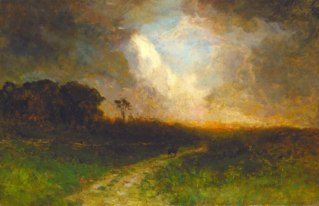 古典主义风格,宁静的田园风景画插图27