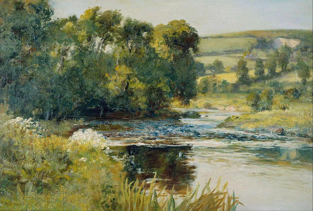 古典主义风格,宁静的田园风景画插图35