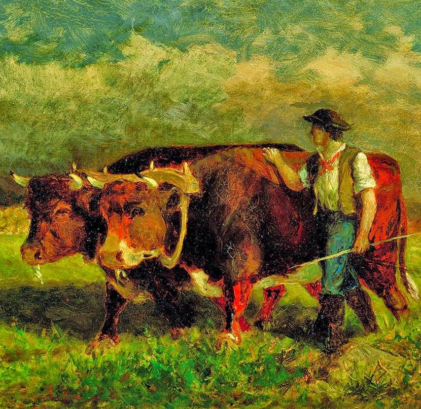 古典主义风格,宁静的田园风景画插图41