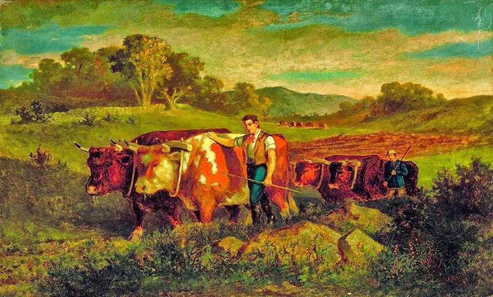 古典主义风格,宁静的田园风景画插图43