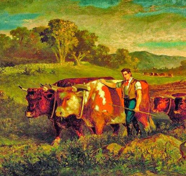 古典主义风格,宁静的田园风景画插图45