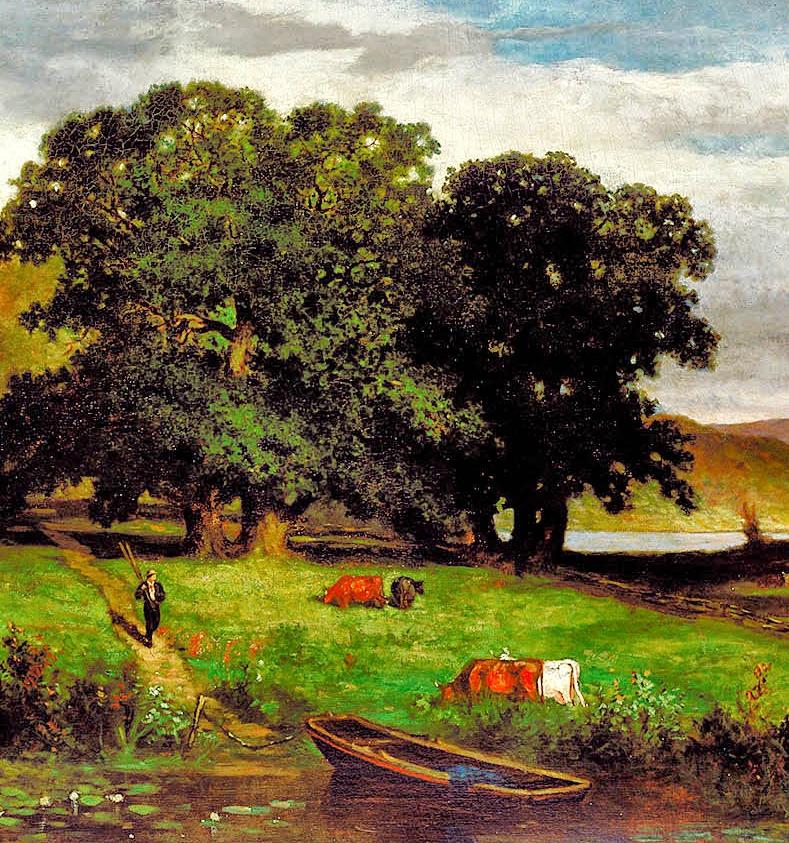 古典主义风格,宁静的田园风景画插图49