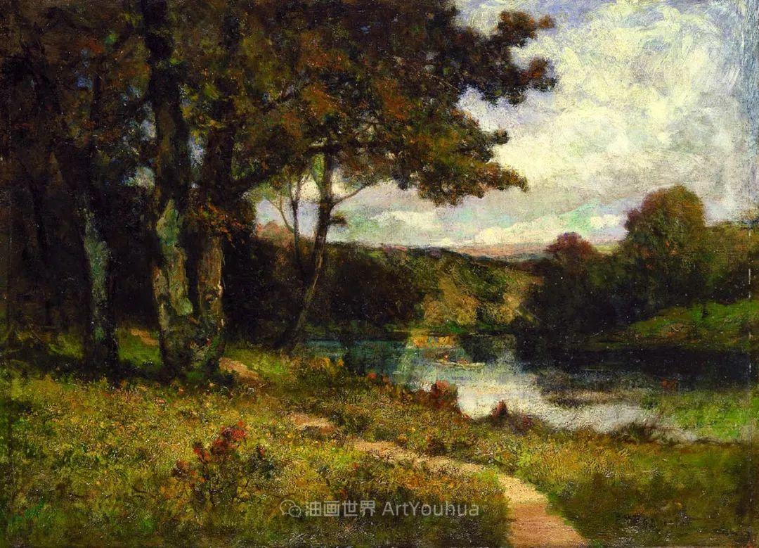 古典主义风格,宁静的田园风景画插图55