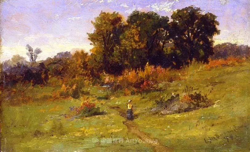 古典主义风格,宁静的田园风景画插图59