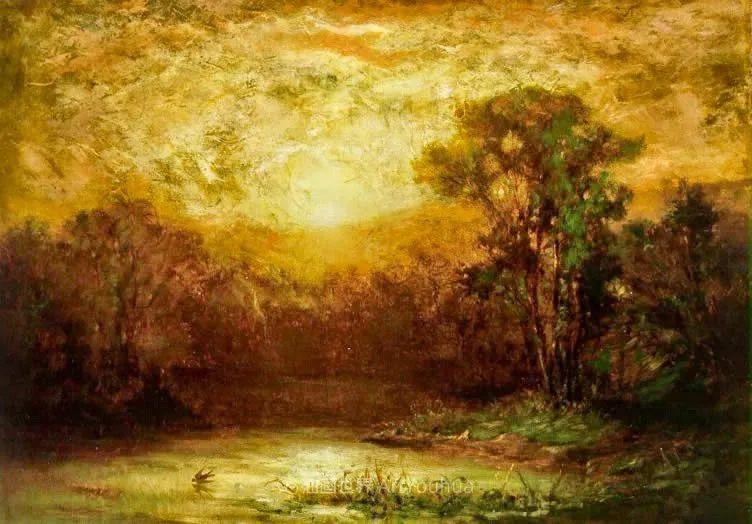 古典主义风格,宁静的田园风景画插图61