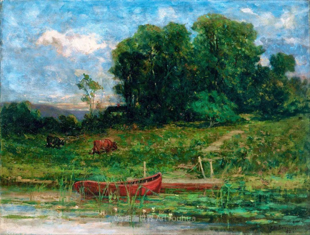古典主义风格,宁静的田园风景画插图63