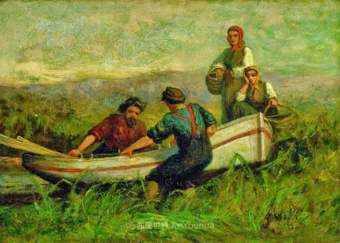 古典主义风格,宁静的田园风景画插图65