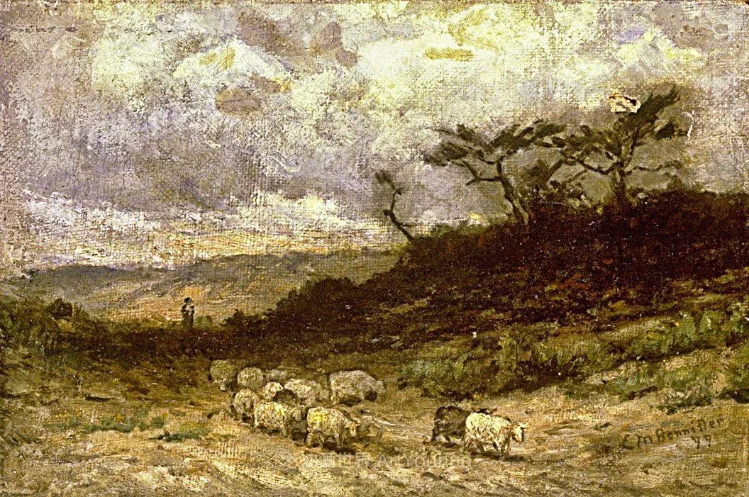 古典主义风格,宁静的田园风景画插图107