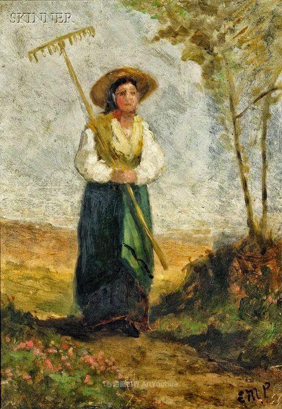 古典主义风格,宁静的田园风景画插图115