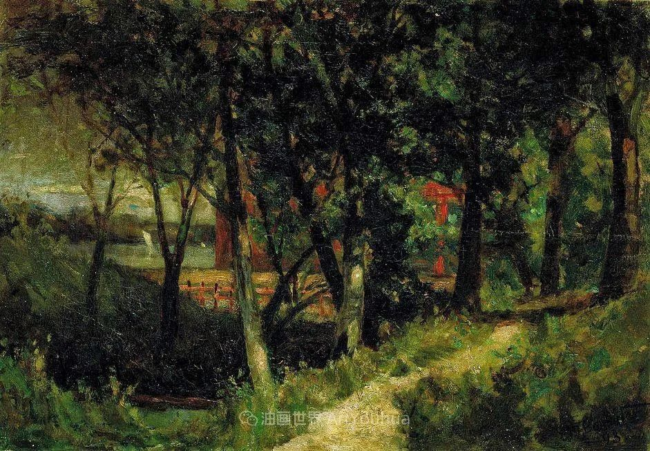 古典主义风格,宁静的田园风景画插图117