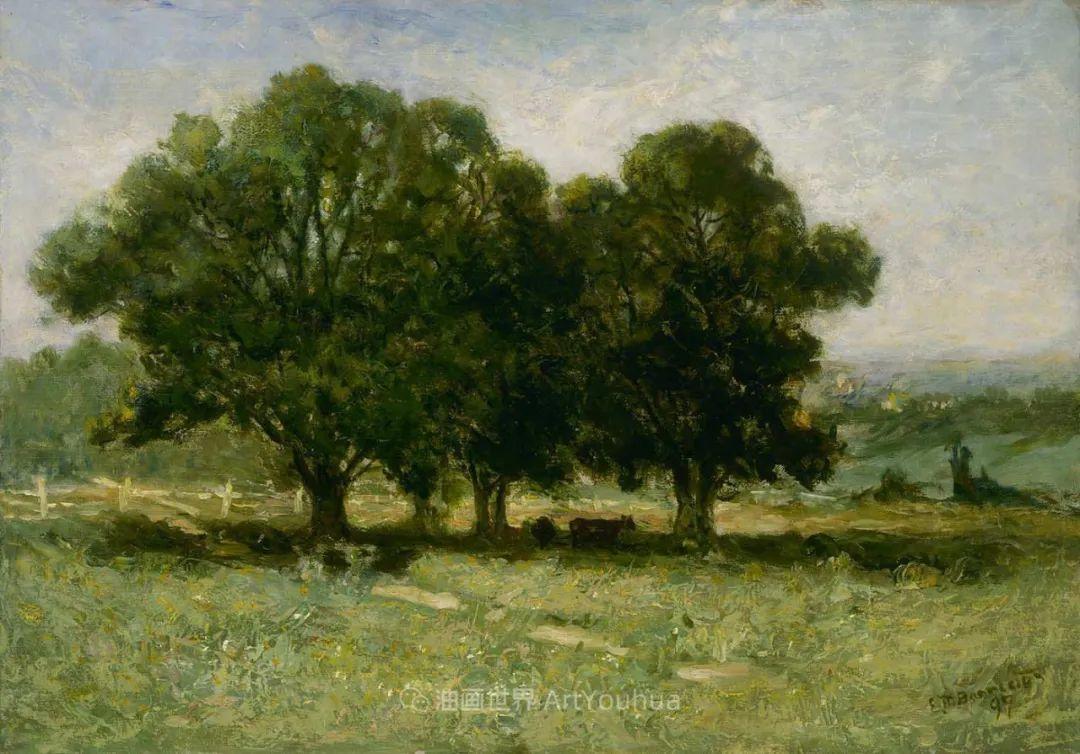 古典主义风格,宁静的田园风景画插图119