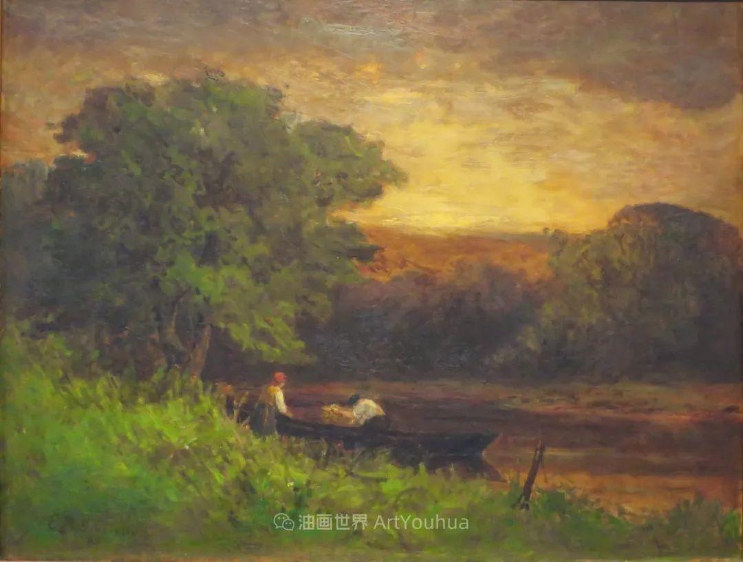 古典主义风格,宁静的田园风景画插图125